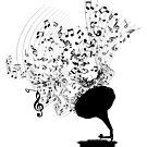 Grammophon und Musiknoten von DCornel