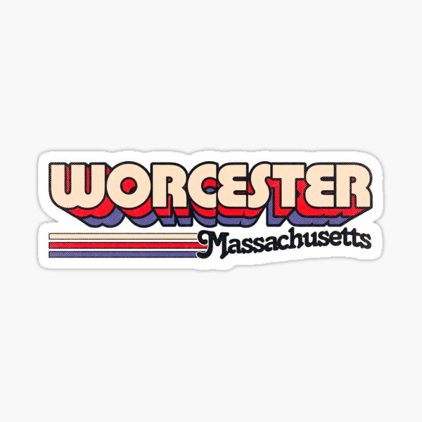 Worcester, MA   City Stripes Sticker