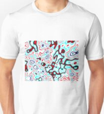 Light gnarled pattern - abstract computer-generated image T-Shirt