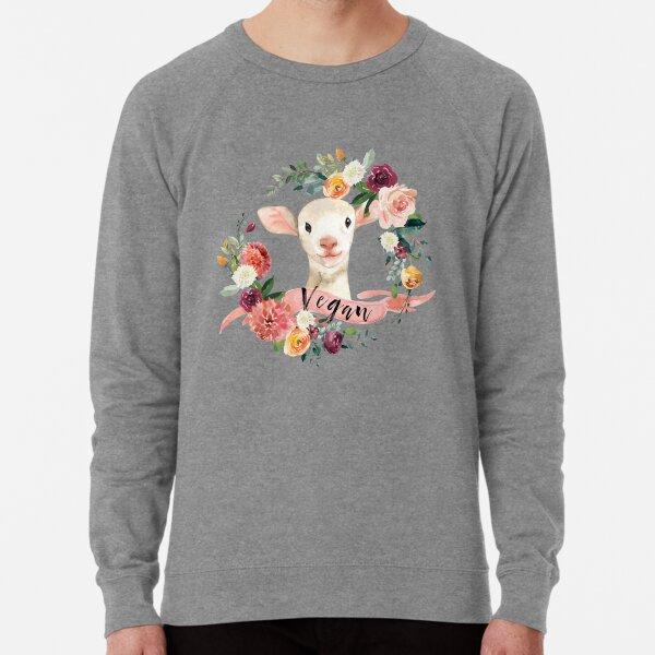 Vegan - Floral Lamb Lightweight Sweatshirt