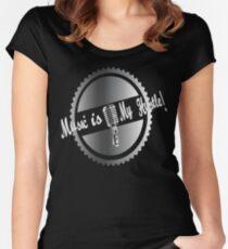 Music is my Hustle! Hustler design Women's Fitted Scoop T-Shirt