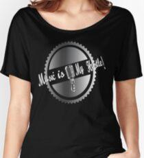 Music is my Hustle! Hustler design Women's Relaxed Fit T-Shirt