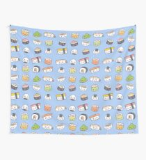 Happy kawaii sushi pattern Wall Tapestry