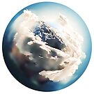 Earth as seen from the Hubble Telescope [Painting] by #PoptART products from Poptart.me