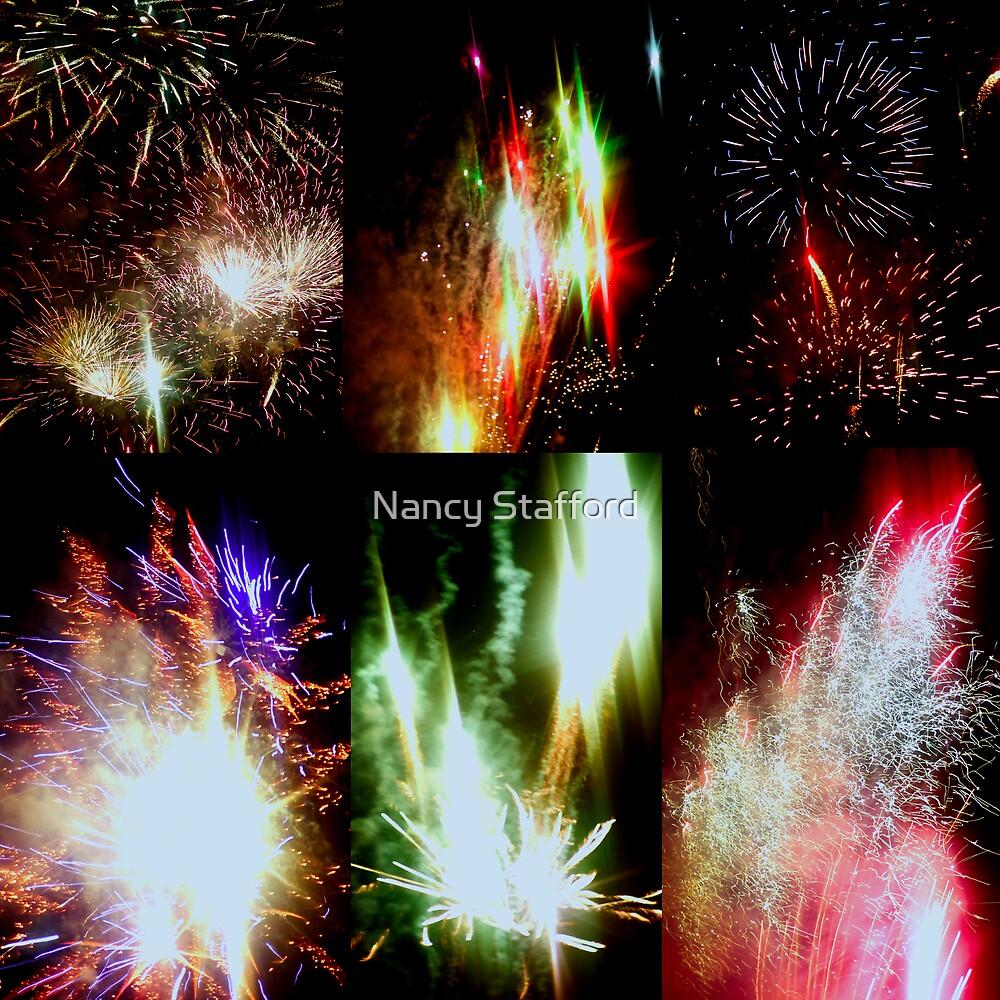 Marin County Fair Fireworks by Nancy Stafford