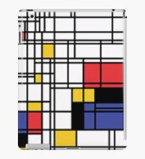 Composition with Red, Yellow, Blue and Black iPad Case/Skin