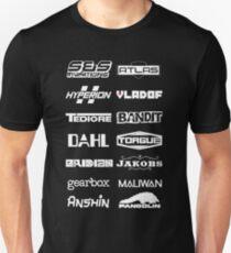 Borderlands Weapon Manufacturers T-Shirt