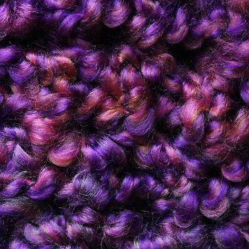 Plush Purple Yarn by emederart