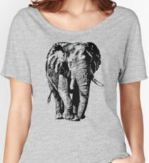 Big African Bull Elephant | African Wildlife Women's Relaxed Fit T-Shirt