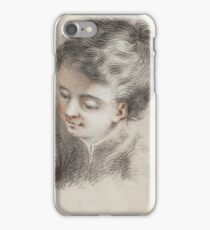 Follower of Jean Honoré Fragonard () Head studies of young boys iPhone Case/Skin