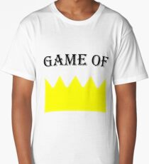 Game of crown, Queen, king Long T-Shirt