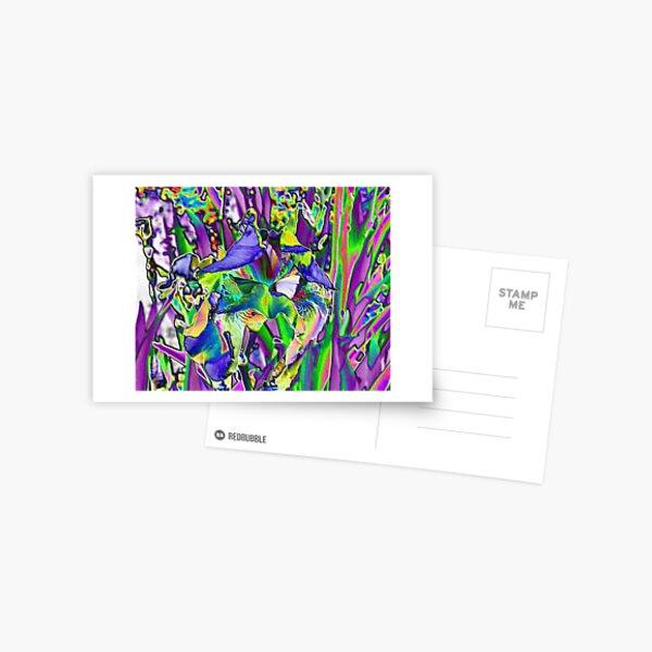 Lavender Iris Abstract Postcard