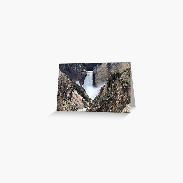 Grand Canyon of Yellowstone Lower Falls Greeting Card