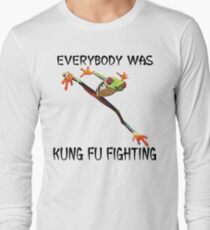 Everybody Was Kung Fu Fighting Funny Cute Tree Frog T-Shirt
