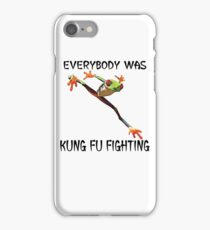 Everybody Was Kung Fu Fighting Funny Cute Tree Frog iPhone Case/Skin