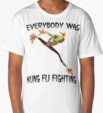 Everybody Was Kung Fu Fighting Funny Cute Tree Frog Long T-Shirt