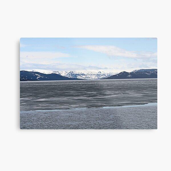 Spring at Yellowstone Lake, MT Metal Print