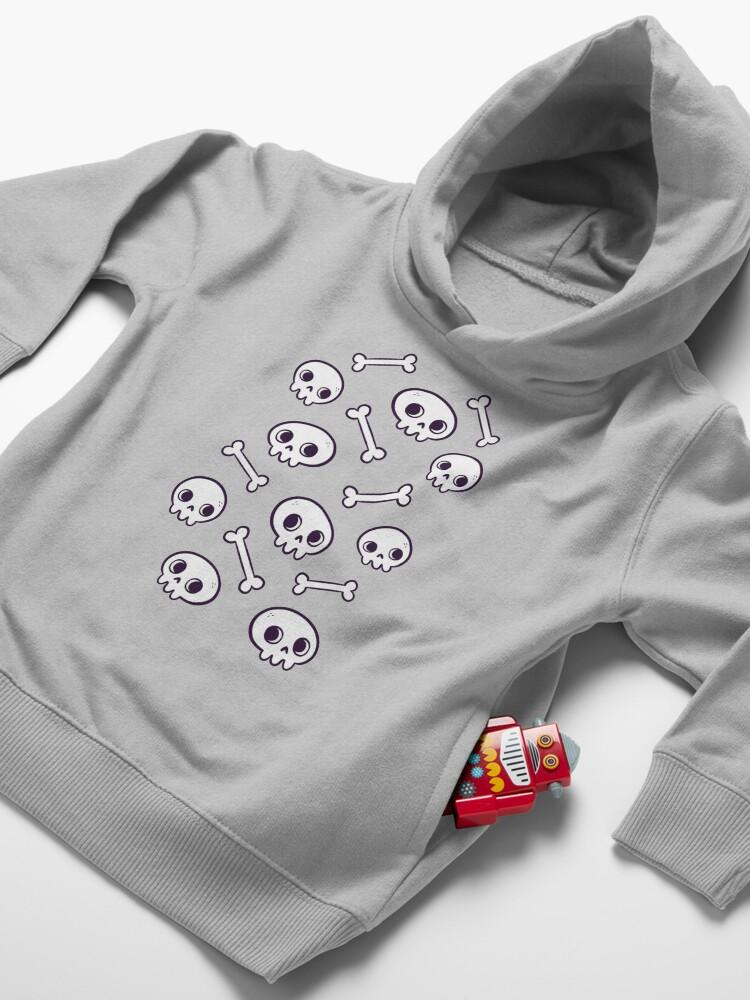 Alternate view of Cute Skulls Toddler Pullover Hoodie