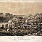 View of the University of Virginia from 1856 by allhistory