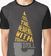 Pierce The Heavens With Your Drill Graphic T-Shirt