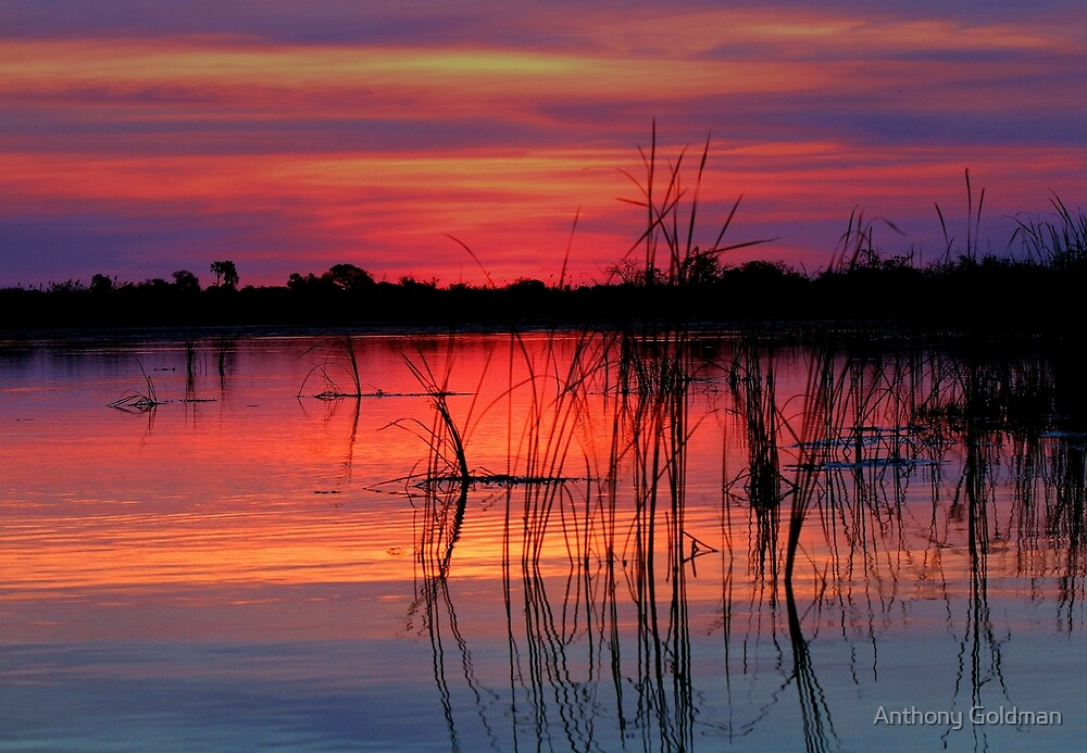 Sunset at Nxebega by Anthony Goldman