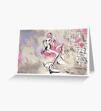 Pink Portrait Greeting Card
