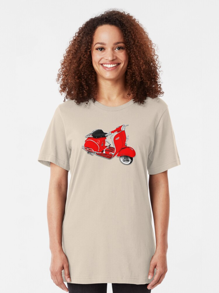Alternate view of Scooter T-shirts Art: 1961 Allstate Scooter Design Slim Fit T-Shirt