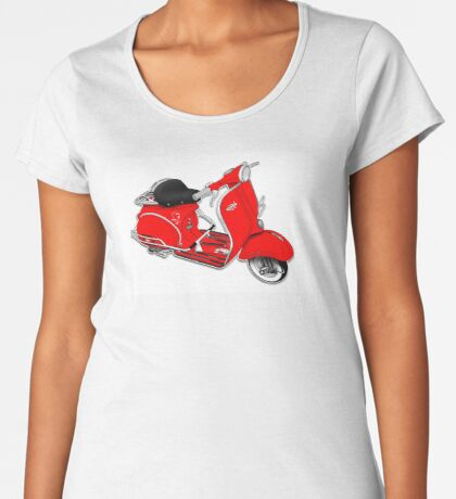 Scooter T-shirts Art: 1961 Allstate Scooter Design Women's Premium T-Shirt