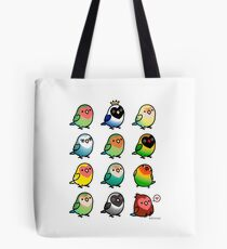 Chubby Lovebirds Tote Bag