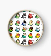 Chubby Lovebirds Clock