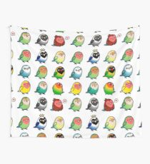 Chubby Lovebirds Wall Tapestry
