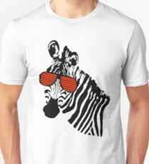 Zebra_Red Unisex T-Shirt