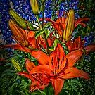 tiger lilies by Kurt  Tutschek
