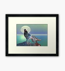Star Wolf Framed Print