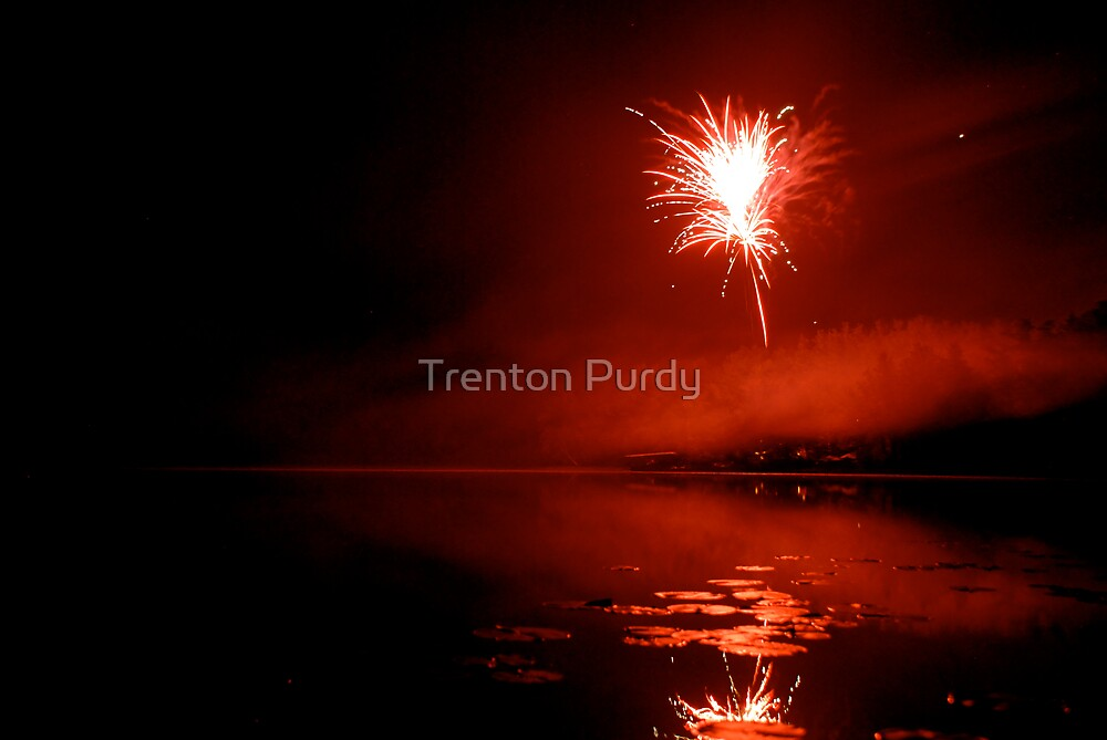 Red Fireworks by Trenton Purdy