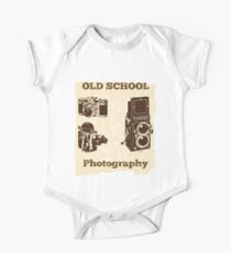 Photographer Funny Design - Old School Photography One Piece - Short Sleeve