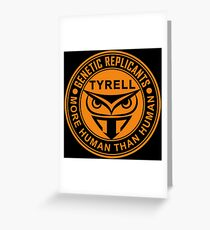 Tyrell corporation logo Greeting Card