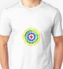 Yellow green blue red tie dye mandala  T-Shirt