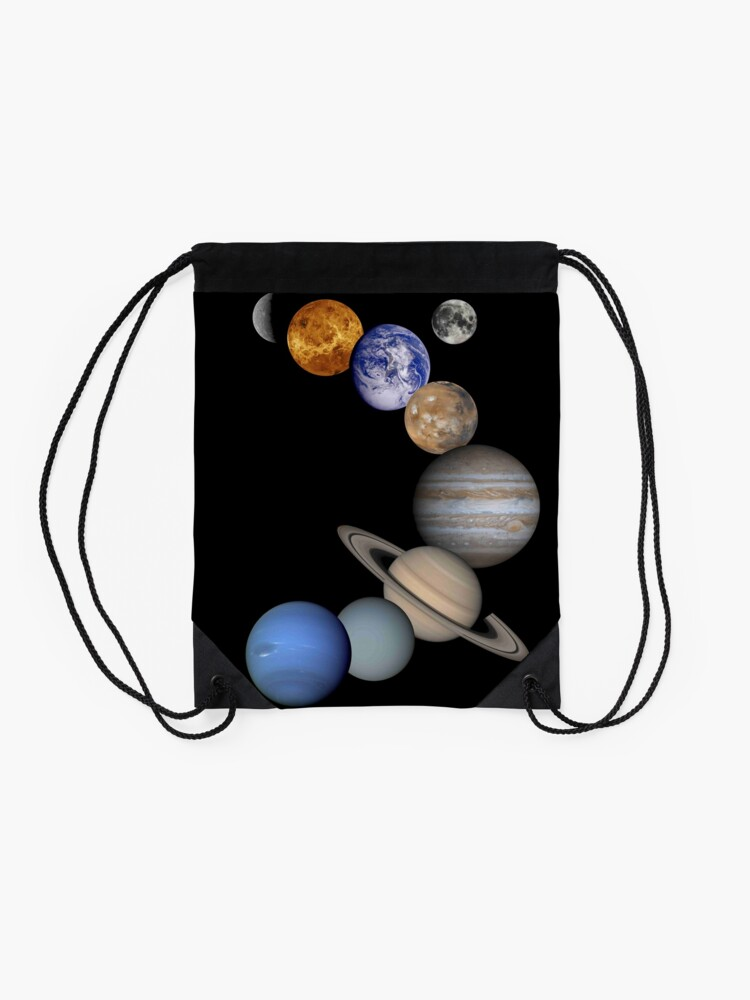 Alternate view of Planets Drawstring Bag