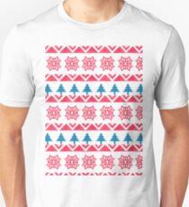 Colorful pink blue watercolor scandinavian pattern T-Shirt
