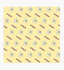 Eggs and Bacon Breakfast Foodie Funny Pattern Photographic Print