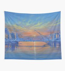 Morning on the River Liffey Wall Tapestry