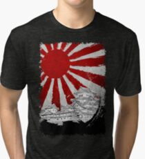 Japanischer Palast und Sonne Vintage T-Shirt