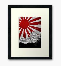 Japanischer Palast und Sonne Gerahmtes Wandbild