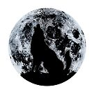 Wolf und Mond von DCornel