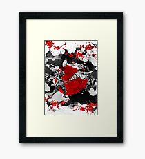 Samurai Fighting Framed Print
