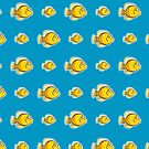 Yellow Fish pattern by sirwatson