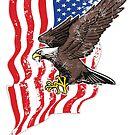 USA-Flagge und Weißkopfseeadler von DCornel