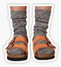 BIRKS AND SOCKS Sticker