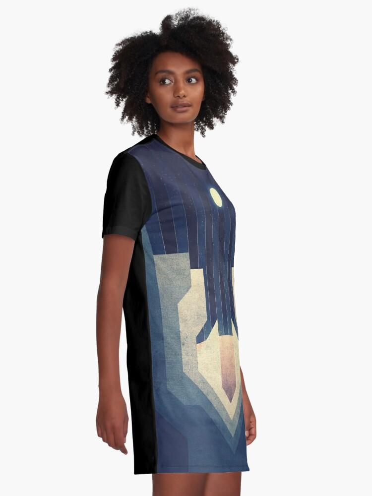 Alternative Ansicht von Jupiter | Mond | Europa | Eiskämme | Weltraum Kunst T-Shirt Kleid